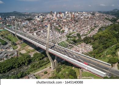 Cesar Gaviria Trujillo viaduct in the city of Pereira-Risaralda-Colombia