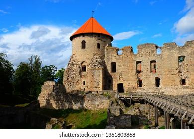 Cesis Medieval Castle Ruins Tower Latvia