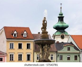 Ceske Budejovice is metropolis of South Bohemia, Czech Republic.