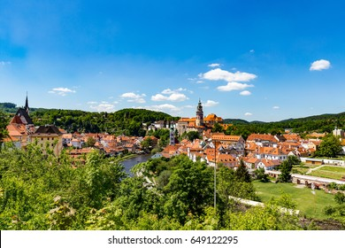 Cesky Krumlov castle and the city