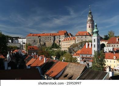 Cesky Krumlov Castle in South Bohemia Czech Republic