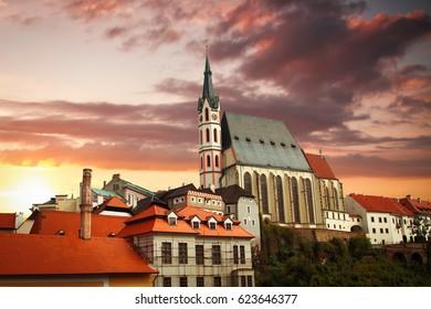 Cesky Krumlov - the city of South Bohemia Czech Republic region. Located on the Vltava River. declared a UNESCO World Heritage Site.