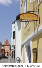 Cesky Krumlov - MARCH 3, 2016. L'Occitane en Provence Store in Czech. L'Occitane is an international retailer of body, face, fragrances and home products that preserves the traditions of Provence