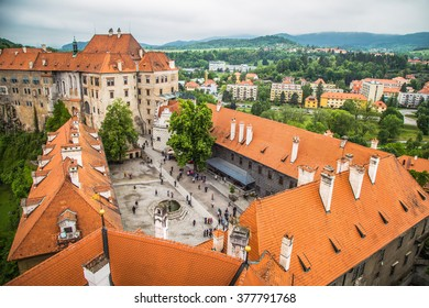 Cesky Krumlov from the top, Cesky Krumlov, czech republic, europe