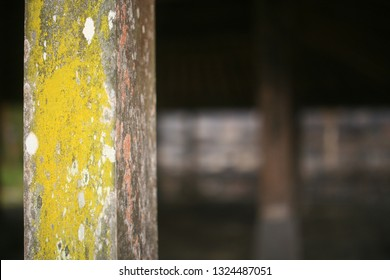 cetho temple, central java / indonesia - october 28. 2014 :  the wooden frame for the joglo in the cetho temple area