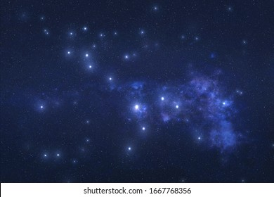 Cetus Constellation in outer space. Whale constellation stars on the night sky. Elements of this image were furnished by NASA