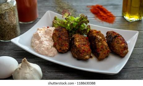 Cevapcici croatian dish