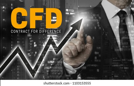 CFD concept is shown by businessman.