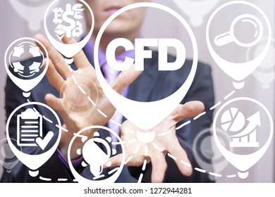 CFD. Contract for difference financce technology stock market concept.