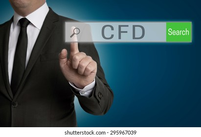 cfd internet browser is operated by businessman.