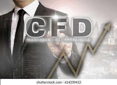CFD is shown by businessman concept.