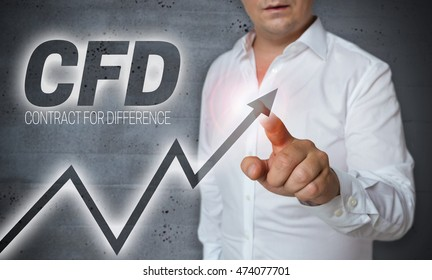 cfd touchscreen is operated by man.