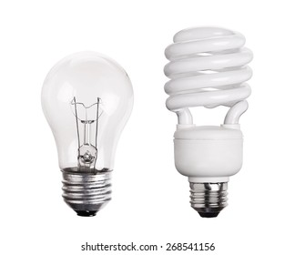CFL Fluorescent Light Bulb isolated on white background