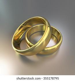 CG of the wedding rings