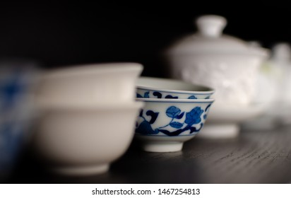 Cha Bei (Porcelain Teacups) - special teacup to chinese tea drinking (selective focus)