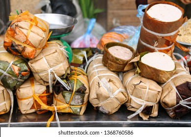 Cha lua, most common vietnamese sausage that is traditionally wrapped in banana leaves