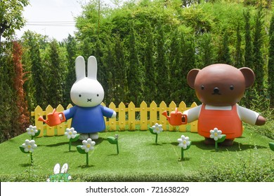 Cha-am, THAILAND - SETEMBER 24, 2017: Miffy zone in the Santorni Park.