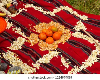 Chacana (Chakana) or Ceremony in homage to Pachamama (Mother Earth) - is an aboriginal ritual of the indigenous peoples of the central Andes, Ecuador