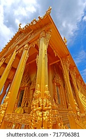 CHACHEANGSOW-THAILAND-JULY 25 : Traditional Thai style Stucco in temple, July 25, 2015, Chacheangsow Province, Thailand.