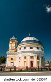 Chachersk, Gomel Region, Belarus. Transfiguration Church. Orthodox Church At Sunny Summer Day In Chechersk