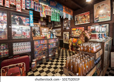 Chachoengsao, Thailand - January 14, 2018: Miscellaneous shop at Nakhon Nueang Khet ancient market.