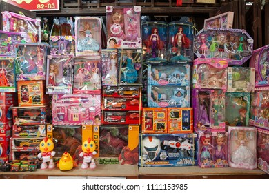 Chachoengsao, Thailand-May 1, 2018: Vintage market at Klong Suan 100 Year Old Market