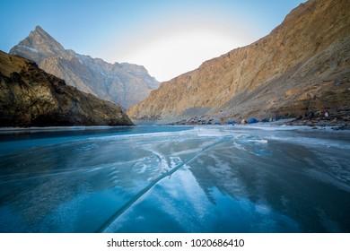 Chadar Trek Base Camp. It's the starting point of renowned Winter Trek, Chadar Trek.