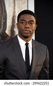 "Chadwick Boseman at the ""42"" Los Angeles Premiere at TCL Chinese Theater on April 9, 2013 in Hollywood, California."