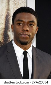 """Chadwick Boseman at the Los Angeles premiere of """"42"""" held at the TCL Chinese Theatre in Hollywood, California, United States on April 9, 2013."""
