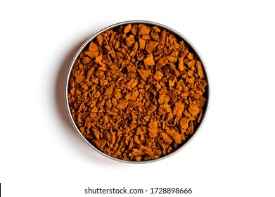 chaga mushroom. small dry pieces of birch tree fungus chaga in a round bowl isolated with shadow on a white background. concept of alternative natural medicine