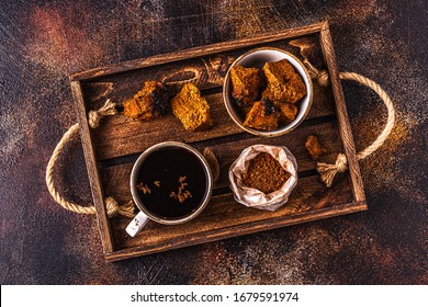 Chaga tea - a strong antioxidant, boosts immune system, has detox quality, improves digestive.