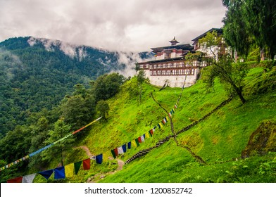 Chagri Dorjeden Monastery, also called Cheri Monastery in Bhutan.