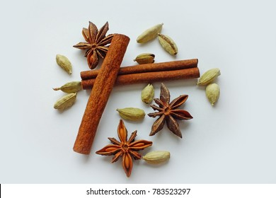 Chai Spices Isolated