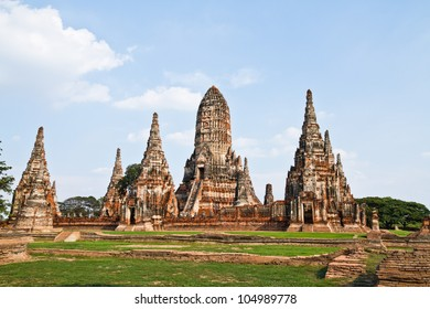Chai Wattanaram Temple, Ayuddhaya in Thailand
