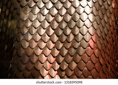 Chain armour element made of the steel plates