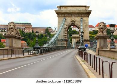 Chain Bridge in Budapest , Hungary