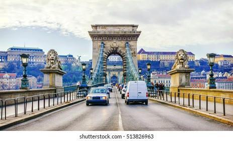 Chain Bridge in Budapest. Hungary