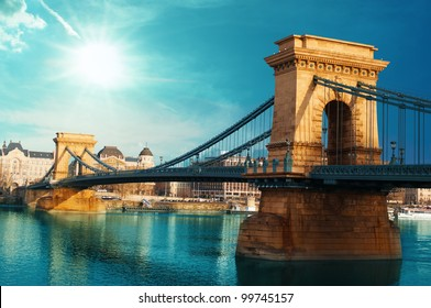 Chain bridge Budapest Hungary
