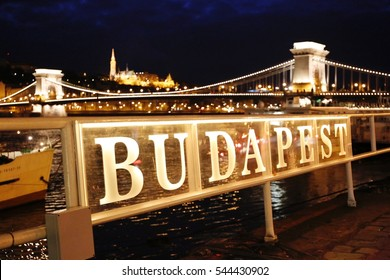 Chain Bridge, Danube River, Budapest, Hungary