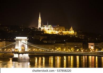 Chain Bridge on Danube - Budapest, Hungary