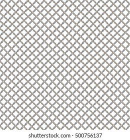Chain chrome mesh seamless HD texture isolated on white background.