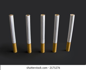 Chain of cigarettes.
