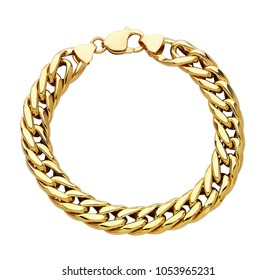 chain golden metallic necklace or bracelet. Personal fashion accessory design.