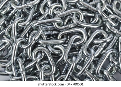 Chain heap - abstract metal background