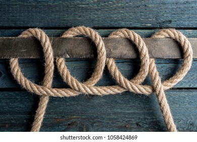 Chain Hitch Knot. Rope node