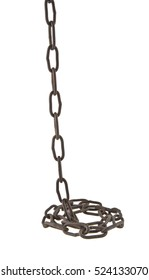 chain isolated on white background closeup
