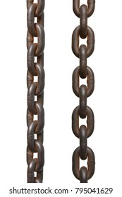 chain isolated on white background. This has clipping path.