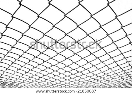 Chain Link Fence Diminishing Perspective Stock Photo Edit Now