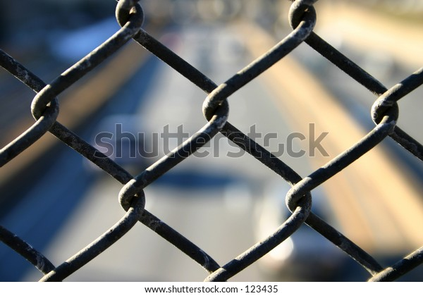 Chain Link Fence over Highway