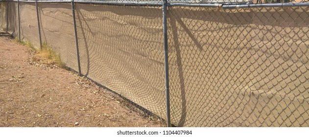 Chain Link Fence Privacy Tarp Stock Photo Edit Now 1104407984